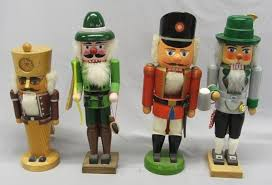 4 german made wooden nutcrackers