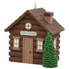 log cabin hallmark ornament gift ornaments hallmark