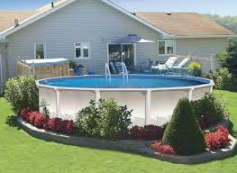 Backyard Pool Sizes by 18 Foot Round Above Ground Pool Pools U0026 Backyards Pinterest