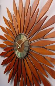60s Clock Best 25 Sunburst Clock Ideas On Pinterest Midcentury Clocks