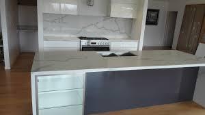 calacatta quartz stone kitchen install engineered stone
