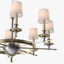 circa lighting leaf and arrow chandelier 3d model max obj 3ds fbx mtl