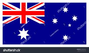 Austailia Flag Flag Australia Australian National Flag Union Stock Vector