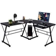 Glass And Metal Corner Computer Desk Multiple Colors Glass Corner Desks L Shaped Desks U0026 Home Office Furniture Ebay