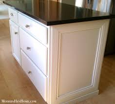 painting a kitchen island before after painting a kitchen island on a budget modern hen