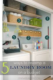5 ways to revamp a laundry room on a budget jenna burger