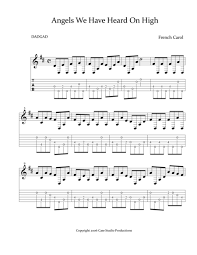 download a dadgad christmas for guitar sheet music by various