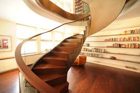 Architectural Stairs Design Interior Luxury Stair Design Feature Curve Stair Wooden Tread