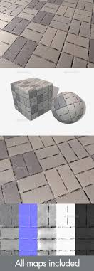 concrete brick flooring seamless texture by lucky fingers 3docean