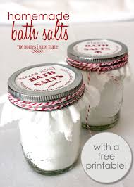 homemade bath salts with free printable labels the homes i
