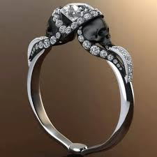 skull wedding ring sets 25 black diamond engagement rings for your side inked