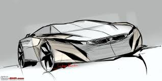 supercar drawing peugeot onyx supercar team bhp