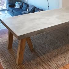 concrete top dining table concrete top dining table ideas table design ideas concrete top