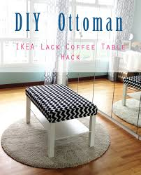 home style organize diy ottoman ikea lack coffee table hack