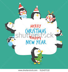 greeting card merry happy new stock vector 513044548