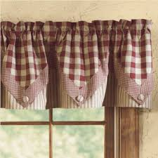 hen pecked rooster lined pleated valance piper classics