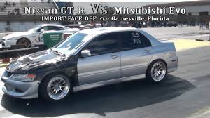 nissan gt r vs mitsubishi evo youtube