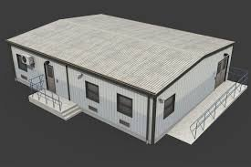 Temporary 3d Asset Temporary Office Cgtrader