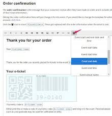 Order Confirmation Template by Customising Order Confirmation Messages Sell Tickets Built For Wix