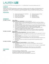Police Officer Resume Sample by 911 Dispatcher Resume U2013 Resume Examples