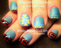 robin moses nail art sweaters and plaid flannel nails up for