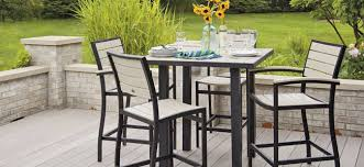 Patio Bar Table Set Outdoor Bar Table And Chairs Home Furnishings