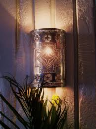 Tin Wall Sconce Robin S Cross Tooled Punched Tin Wall Sconce Taos Tin Works