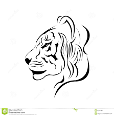a beautiful tiger tattoo design vector royalty free stock photo