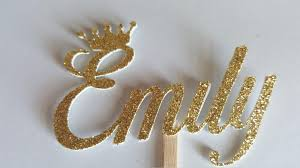 name cake topper gold name cupcake topper name cake topper party cake toppers