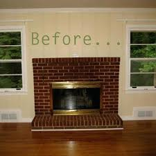 red brick fireplace makeover ideas painting red brick fireplace