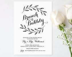 brunch invitation template wedding brunch invitation template printable post wedding