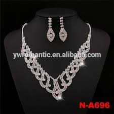 light diamond necklace images Wholesale price elegant light weight diamond necklace set buy jpg