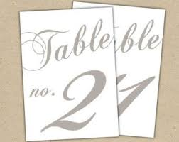 wedding table numbers template wedding table numbers template incheonfair