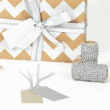 silver christmas wrapping paper silver chevron brown christmas wrapping paper by