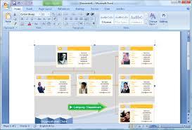 create organization charts in microsoft word