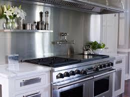 kitchen stainless steel backsplash designs with white granite
