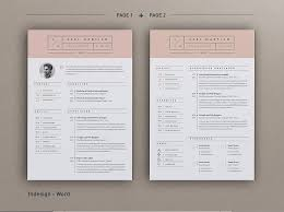 Resume Pages Template Resume Axel 2 Pages Resume Templates Creative Market
