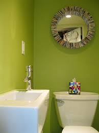 Powder Room Sink Tiny Bright Green Powder Room With Duravit Wall Mount Sink