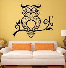 wall decals stickers home decor home furniture diy wall stickers owl bird tribal art living room mural vinyl decal ig1925