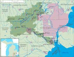 Michigan Map by File Huron River Michigan Map Png Wikimedia Commons