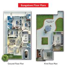 bungalow ground floor plan fazaia housing scheme karachi bungalows home facebook