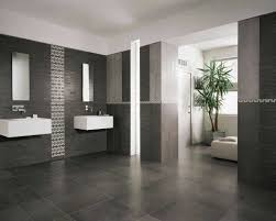 modern bathroom tiles dark cabinet hardware room matching