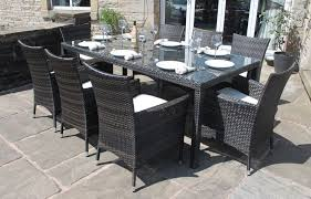 Rattan Patio Dining Set Rectangular Patio Table Seats 8 Patio Design Ideas Dining Sets 8