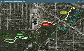 Toledo Ohio Map Mountain Bike Jermain Park