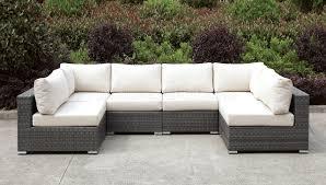 U Sectional Sofas by Somani Cm Os2128 6 Outdoor Patio U Shaped Sectional Sofa