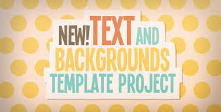 text and backgrounds templates kids after effects templates f5