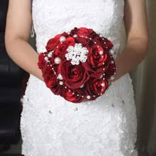 Cheap Wedding Bouquets Red Wedding Bouquet Promotion Shop For Promotional Red Wedding