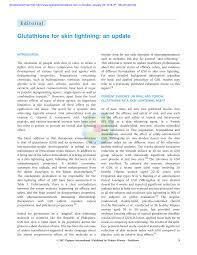 Gluta Vir intravenous glutathione for skin pdf available