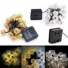 romantick 20 led solar powered metal moroccan ornament led string