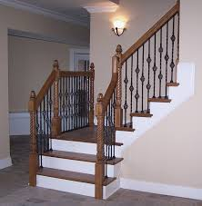 adorn staircase using beautiful iron stair railing charming